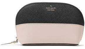 Kate Spade Two-tone Textured-leather Cosmetics Case