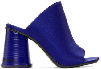 MM6 MAISON MARGIELA Blue Satin Cup To Go Sandals
