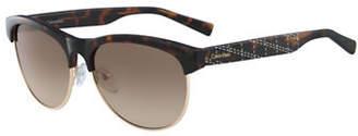 Calvin Klein White Label 56mm Round Sunglasses