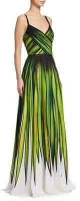 Elie Saab Palm Print Gown