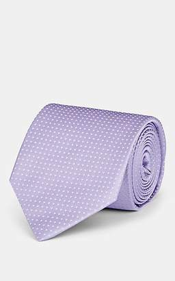 Isaia Men's Pin-Dot Silk Satin Necktie - Purple