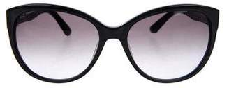 Salvatore Ferragamo Snakeskin-Trimmed Gradient Sunglasses