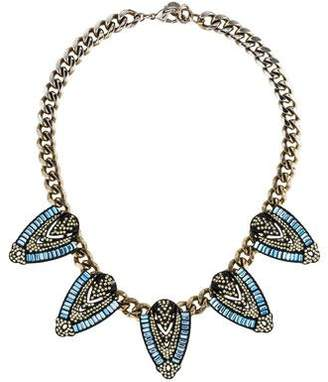 Lulu Frost Crystal & Resin Whistles Collar Necklace