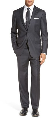 Men's Hart Schaffner Marx Classic Fit Stripe Wool Suit $995 thestylecure.com