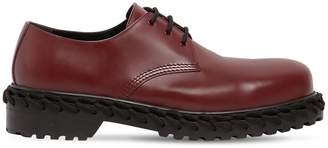 Balenciaga Leather Derby Lace-Up Shoes