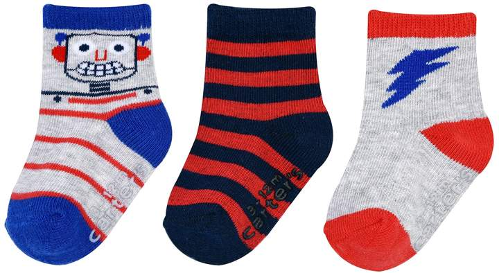 Baby / Toddler Boy 3-pack Robot Crew Socks