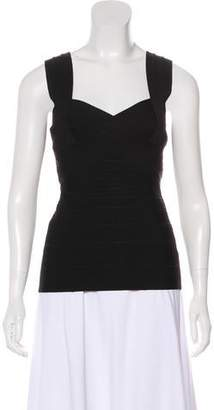 Herve Leger Sweetheart Neck Sleeveless Top w/ Tags