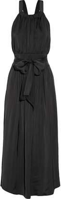 Jill Stuart Jennah Open-back Satin-twill Midi Dress