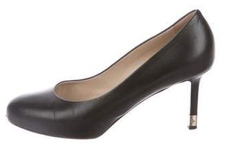 Chanel Leather Round-Toe Pumps