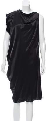 Lanvin Asymmetrical Silk Dress