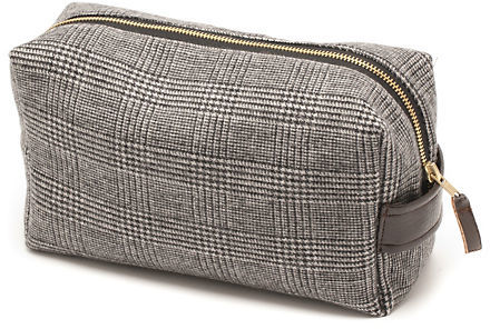 elizabeth W Mens' Wool Toiletry Case