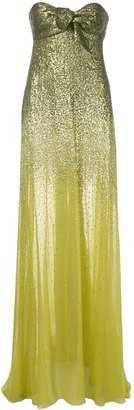 Oscar de la Renta strapless gown with ombré sequins