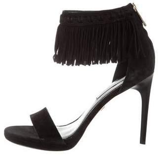 Diane von Furstenberg Suede Ankle Strap Sandals