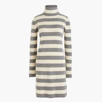 J.Crew Striped turtleneck sweater-dress