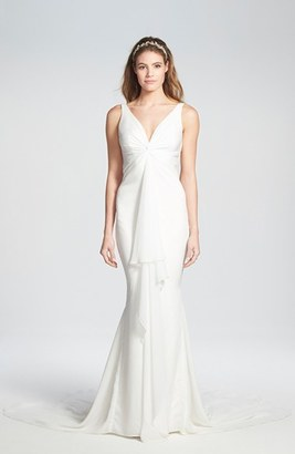 Women's Katie May 'Mykonos' Twist Front Crepe De Chine Mermaid Gown $2,375 thestylecure.com