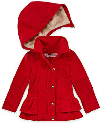 Urban Republic Fleece Hooded Lightweight Jacket-Toddler Girls