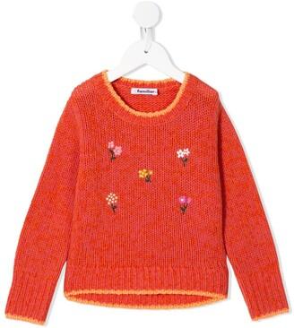 Familiar floral-embroidered jumper