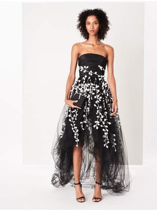 Oscar de la Renta Fern Embroidered Tulle Gown