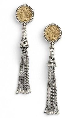 Women's Konstantino Coin Tassel Drop Earrings $450 thestylecure.com