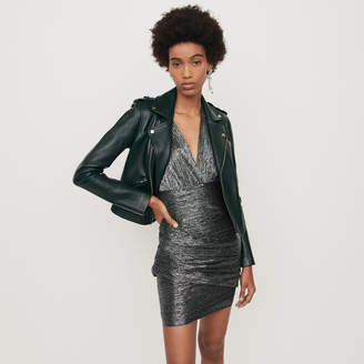 Maje Leather biker-style jacket