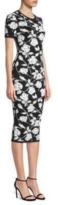 Michael Kors Stencil Rose Jacquard Sheath Dress