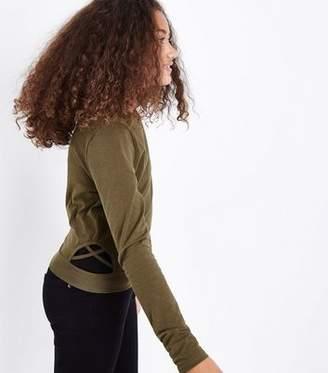 New Look Teens Khaki Lattice Side Top