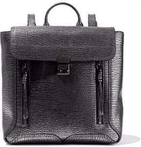 3.1 Phillip Lim Metallic Textured-Leather Backpack