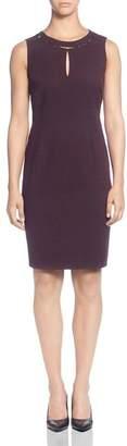 T Tahari Sleeveless Keyhole Dress
