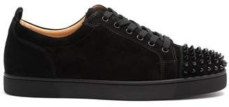 Christian Louboutin - Louis Junior Spike Embellished Low Top Trainers - Mens - Black