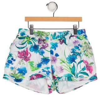 Catimini Girls' Floral Print Shorts