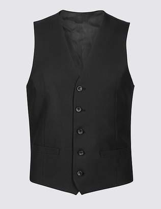 Marks and Spencer Black Slim Fit Waistcoat