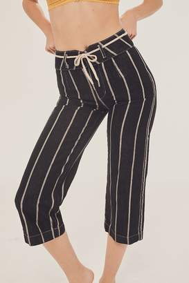 BDG High + Wide Cropped Jean – Striped Yarn