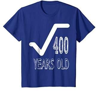 20 Years Old Birthday Math Nerd Geek Square Root T-shirt