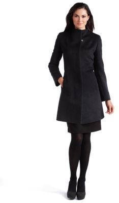 Cinzia Rocca Ombre Herringbone Slim-Fit Coat