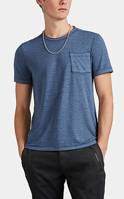 John Varvatos Men's Cotton-Blend Burnout Jersey T-Shirt - Blue
