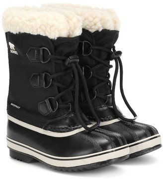 Sorel Yoot Pac leather-trimmed ankle boots