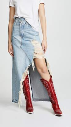R 13 Harrow Denim Skirt