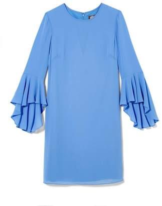 Vince Camuto Cascade-sleeve Dress
