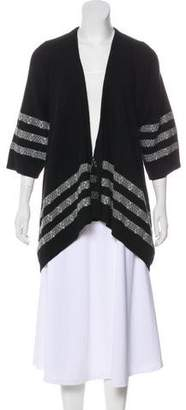 Theory Open Front Three-Quarter Sleeve Cardigan