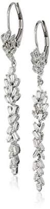 10k White Gold Leaf Taper Diamond Drop Earrings (5/8cttw