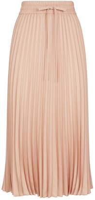 RED Valentino Pleated Pull-On Midi Skirt