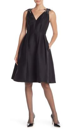 Kate Spade Rhinestone Bow A-Line Dress