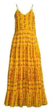 Carolina K. Women's Floral Cami Maxi Dress - Flower Stripe Sunshine - Size Large