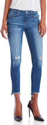 Flying Monkey Distressed Step Hem Cropped Jeans
