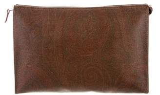 Etro Leather Paisley Clutch