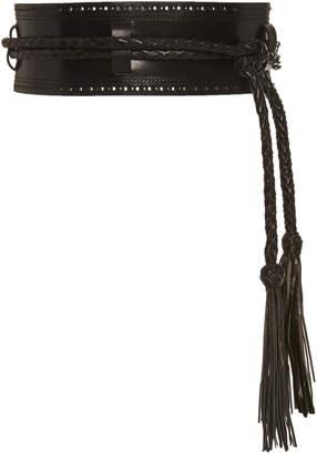 Carolina Herrera Wide Leather Belt