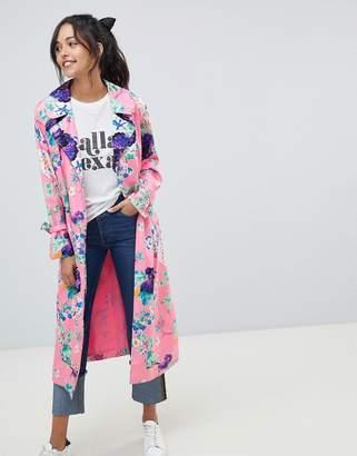Asos DESIGN Printed Floral Duster Coat