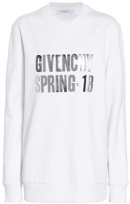 Givenchy Appliquéd cotton-jersey sweatshirt