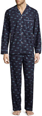 STAFFORD Stafford Long Sleeve/Long Leg Broadcloth Men's Pajama Set - Big