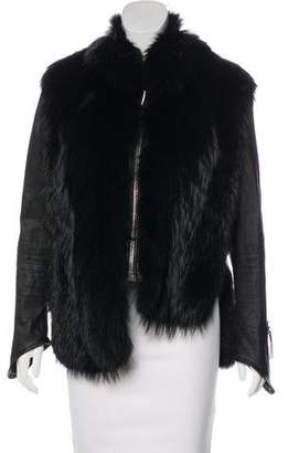 Giuseppe Zanotti Fur & Leather Jacket